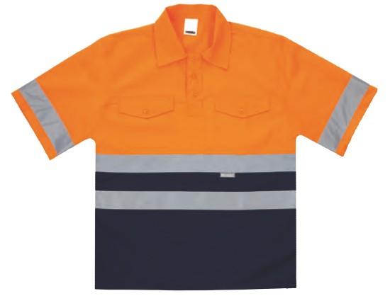 Camisa bicolor M/C serie 137